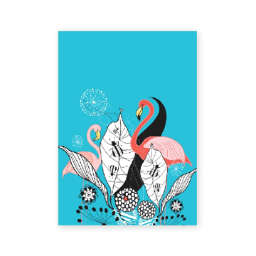 Bild på Fantasia: flamingos a5