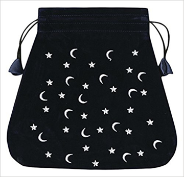 Bild på Tarotpåse: månar och stjärnor (sammet)