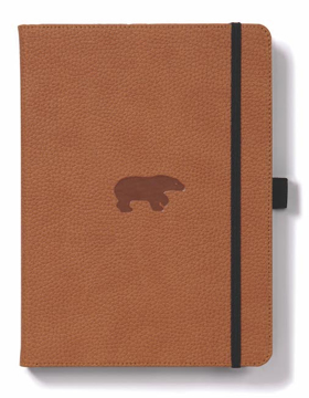 Bild på Dingbats* Wildlife A5+ Brown Bear Notebook - Graph