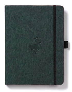 Bild på Dingbats* Wildlife A5+ Green Deer Notebook - Graph