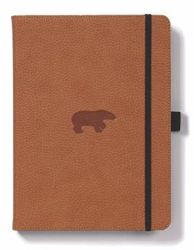 Bild på Dingbats* Wildlife A5+ Brown Bear Notebook - Dotted