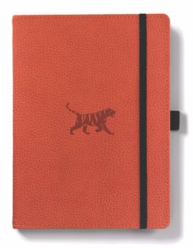 Bild på Dingbats* Wildlife A5+ Orange Tiger Notebook - Graph