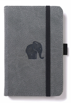 Bild på Dingbats* Wildlife A6 Pocket Grey Elephant Notebook - Plain