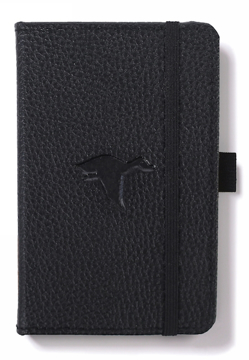 Bild på Dingbats* Wildlife A6 Pocket Black Duck Notebook - Plain