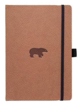 Bild på Dingbats* Wildlife A4+ Brown Bear Notebook - Dotted