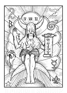 Bild på Engraved The High Priestess
